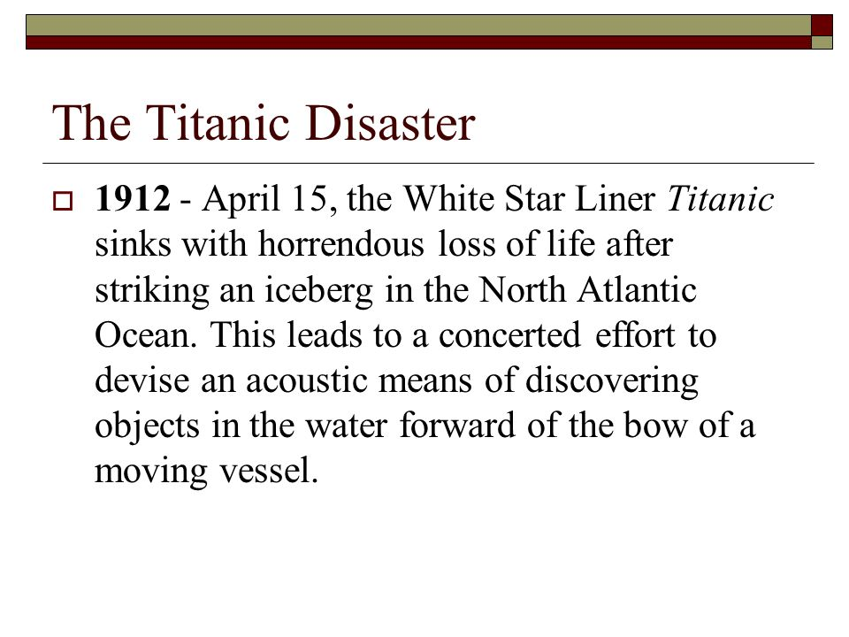 a history of the titanic tragedy in the north atlantic ocean The tragedy of the unsinkable titanic - lost in the cold water of the atlantic - became part of history and pop culture, but the story of the main culprit that caused the disaster is.