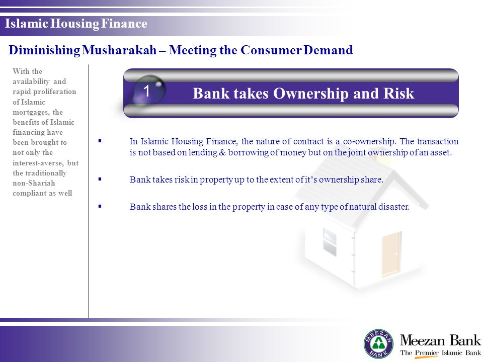 Bank takes Ownership and Risk