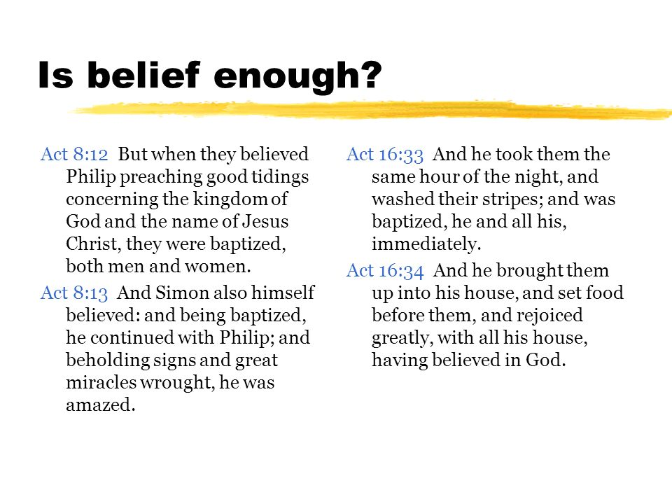 Is belief enough