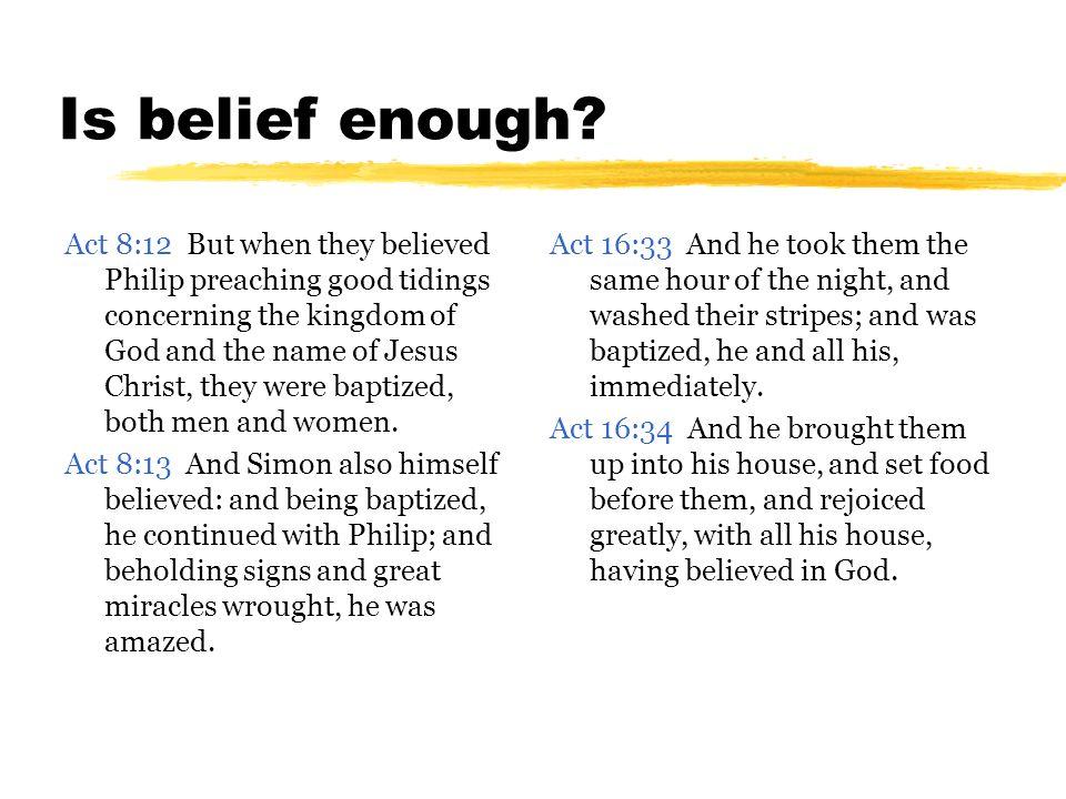 Is belief enough