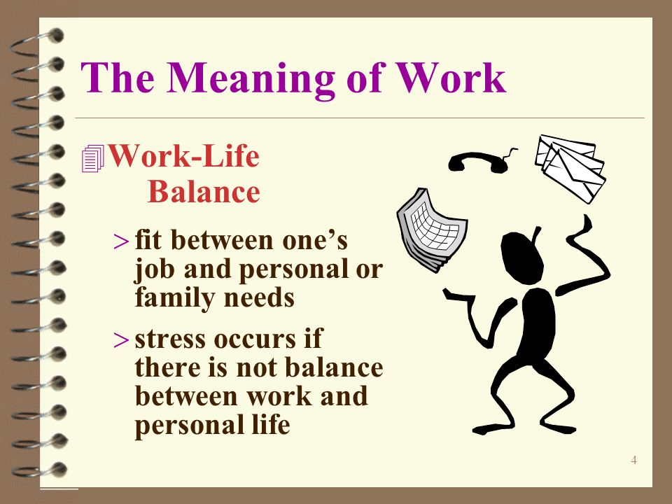 Meaning of work essay
