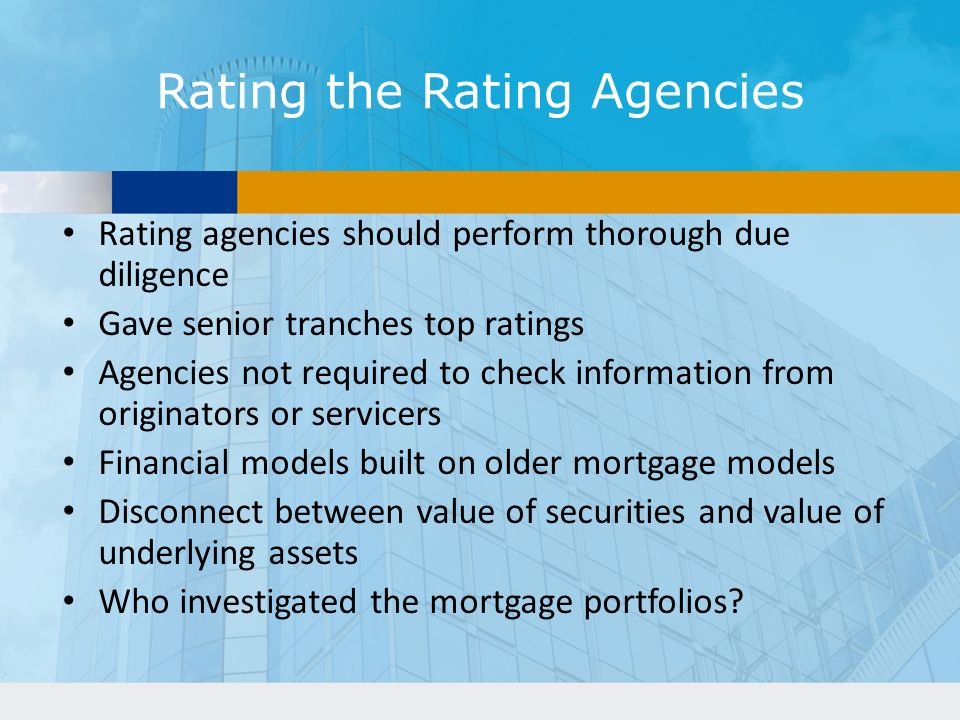 Rating the Rating Agencies