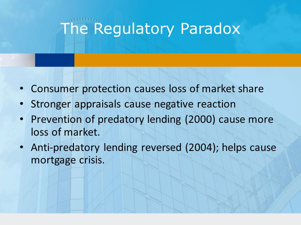 The Regulatory Paradox