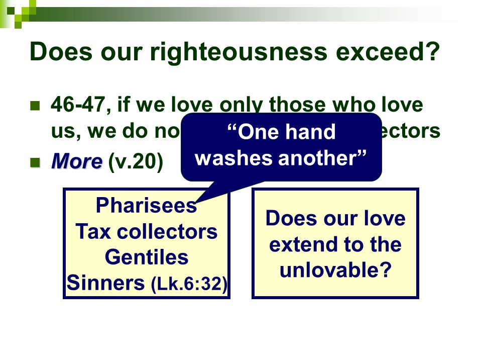 Does our righteousness exceed