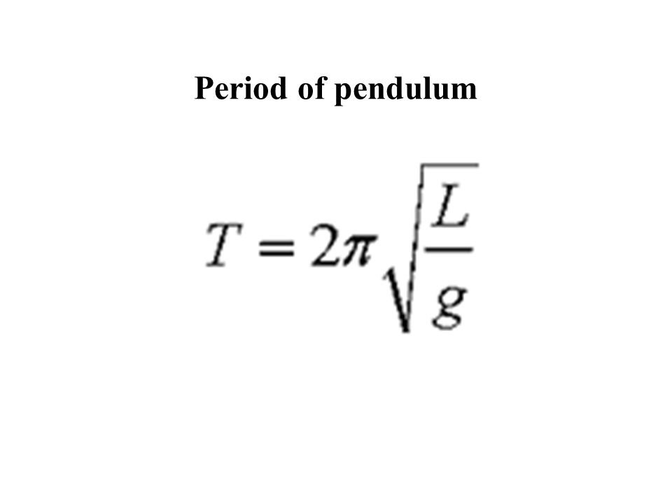 Period of pendulum