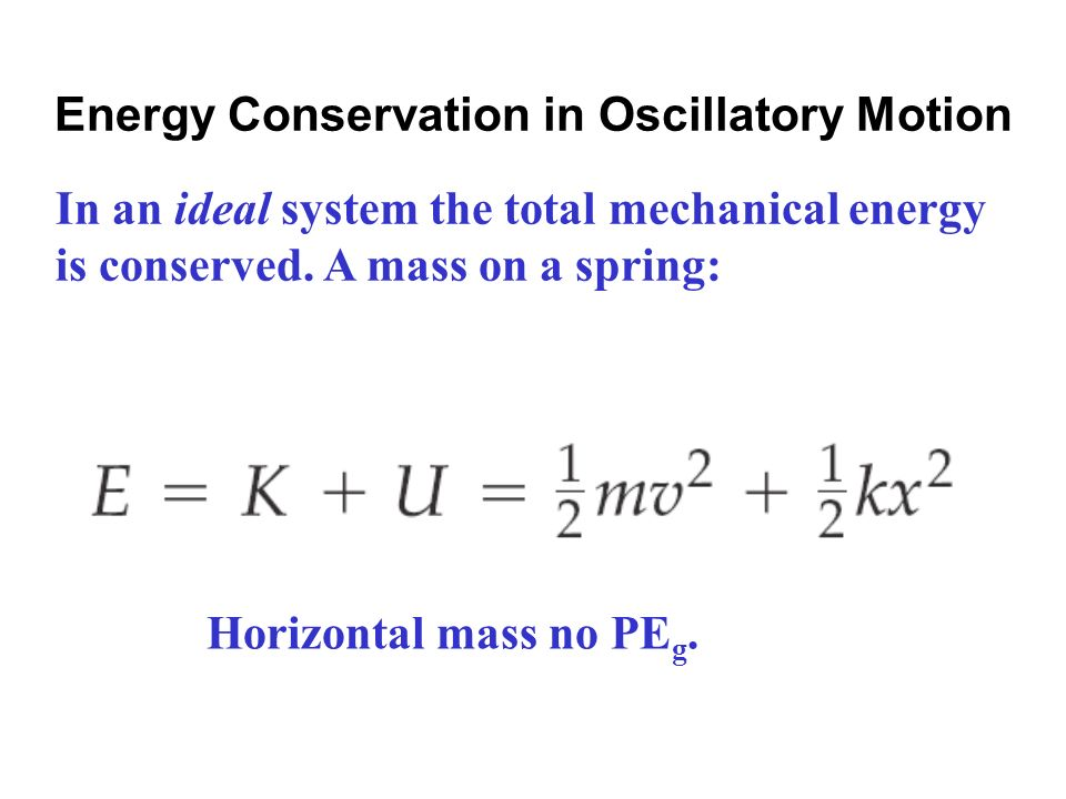 Energy Conservation in Oscillatory Motion