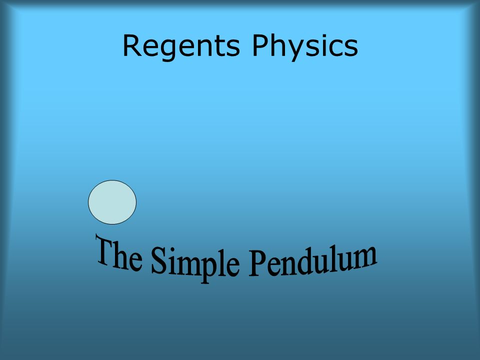 the simple pendulum Play with one or two pendulums and discover how the period of a simple pendulum depends on the length of the string, the mass of the pendulum.