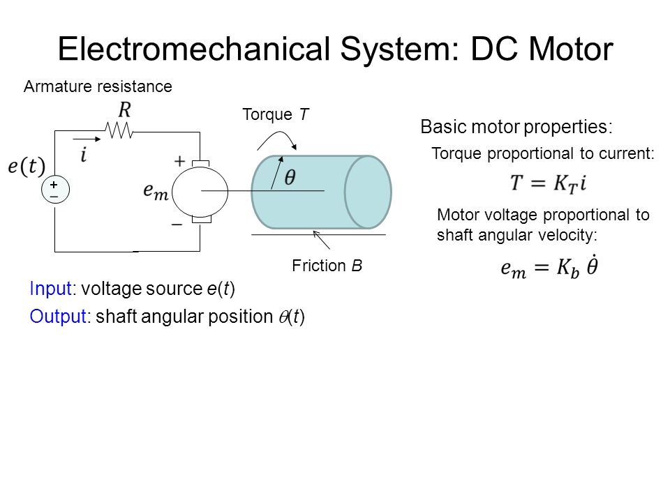 Lec 3 system modeling transfer function model ppt video for Electric motor torque calculator
