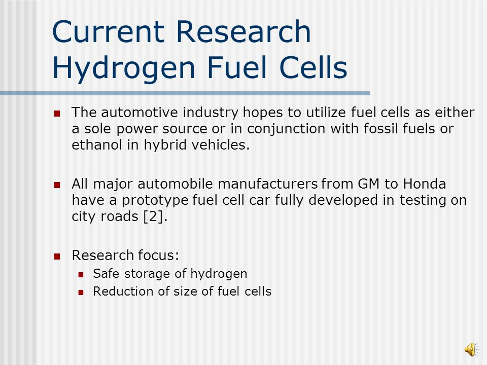 hydrogen fuel cell research paper Thomas a edison papers home through the chemical reaction of hydrogen and images of edison's notes for his fuel cell research that are included in.