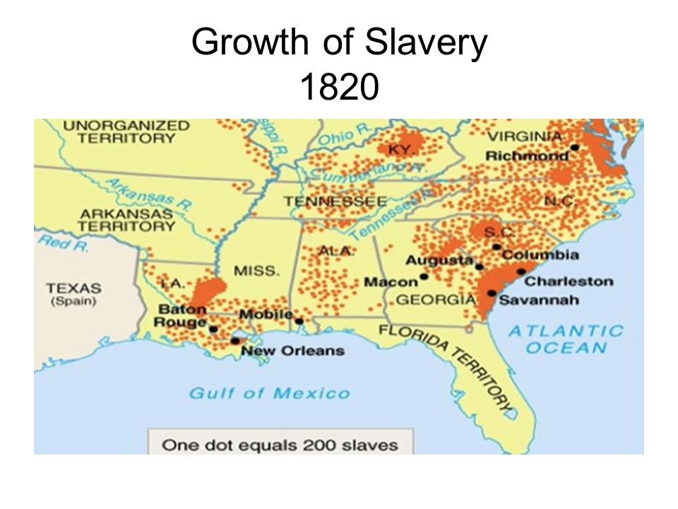 Growth of Slavery 1820