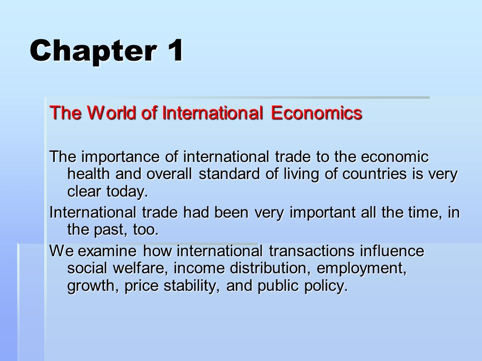 economics project on significance of foreign The three major international economic organizations are the world bank, the   perhaps even more important in light of the recent financial crises in mexico,.
