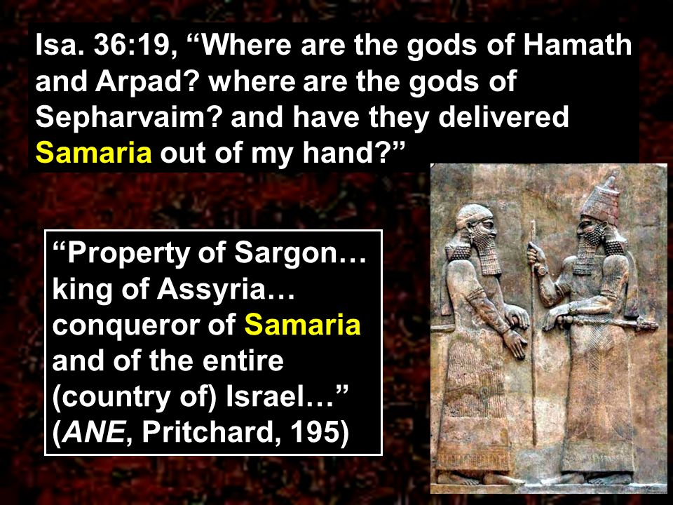 Isa. 36:19, Where are the gods of Hamath and Arpad
