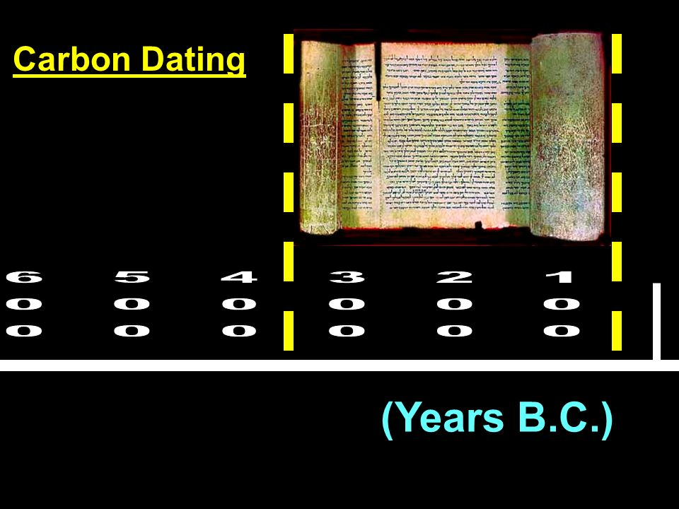 Carbon Dating 600 500 400 300 200 100 (Years B.C.)