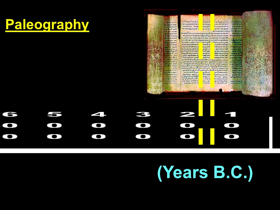 Paleography 600 500 400 300 200 100 (Years B.C.)