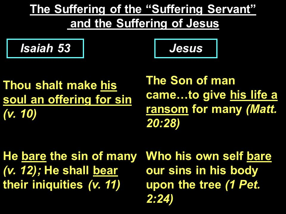 The Suffering of the Suffering Servant and the Suffering of Jesus