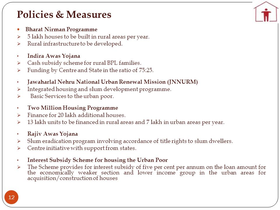 Policies & Measures Bharat Nirman Programme