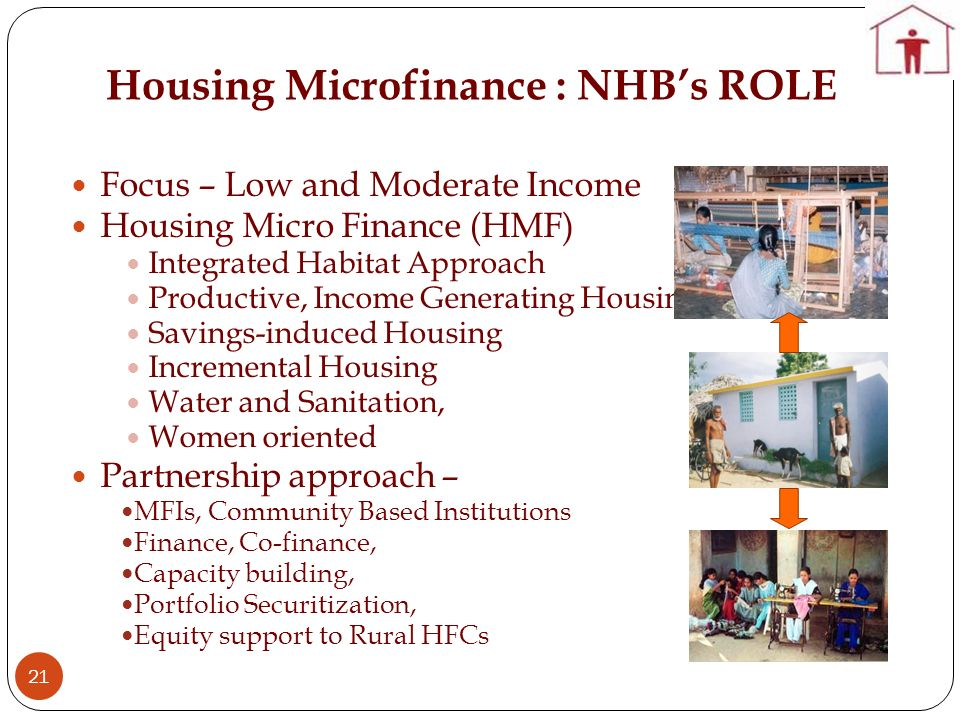 Housing Microfinance : NHB's ROLE