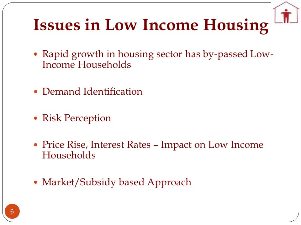 Issues in Low Income Housing