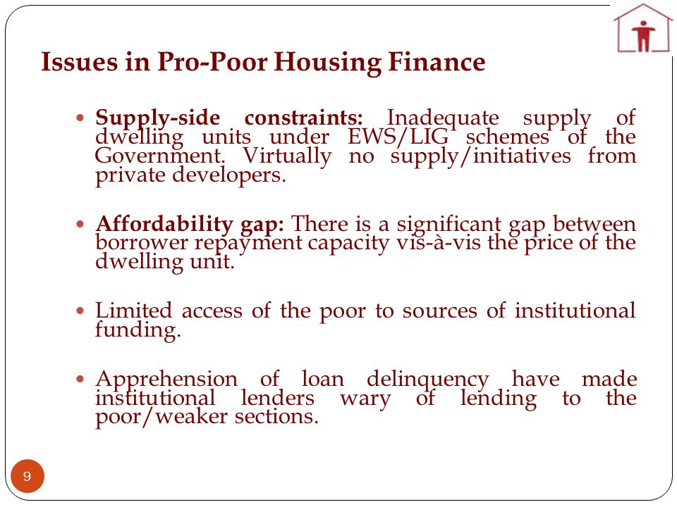 Issues in Pro-Poor Housing Finance