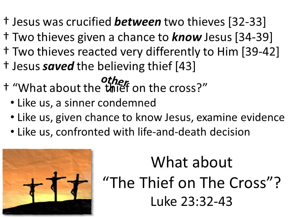 The Thief on The Cross