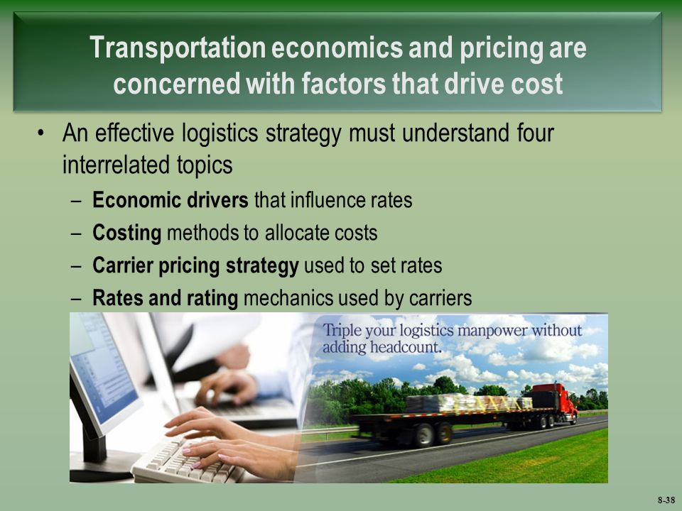 transportation cost economics Introduction [] price, cost and investment issues in transportation garner intense interest this is certainly to be expected from a sector that has been subject to continued public intervention since the ninteenth century.