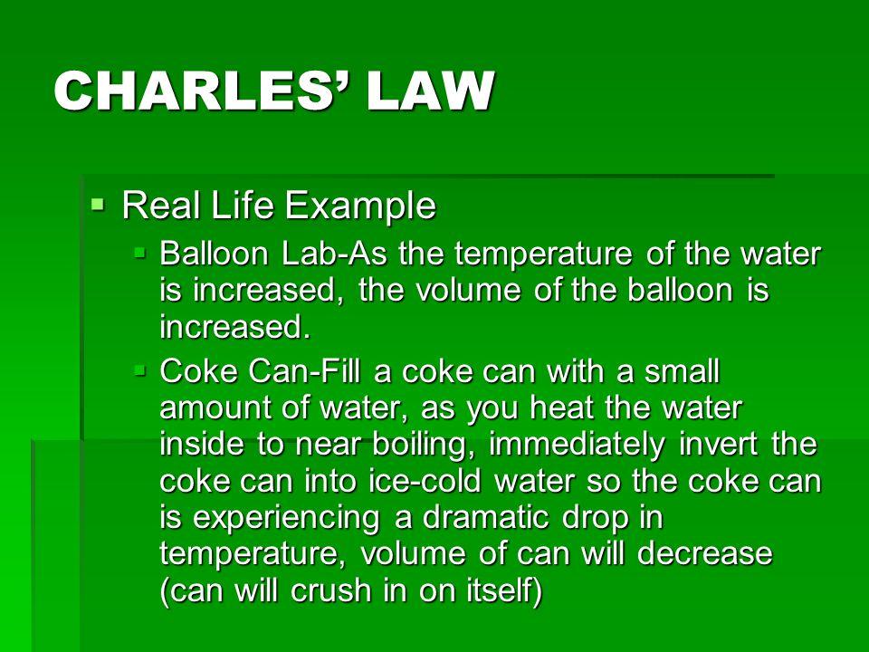 charles law lab