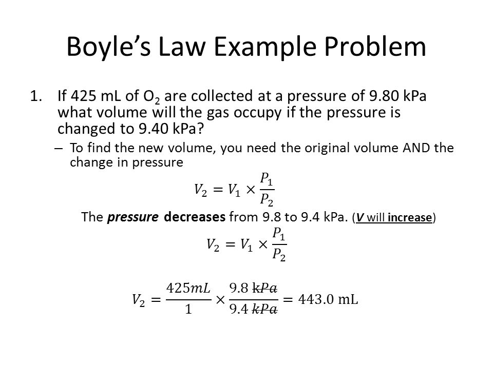 how to solve boyles law