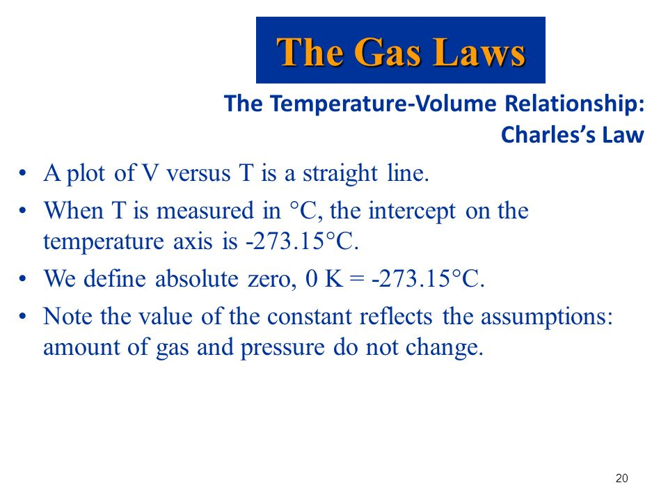 relationship of pressure volume and temperature in relation to the gas laws