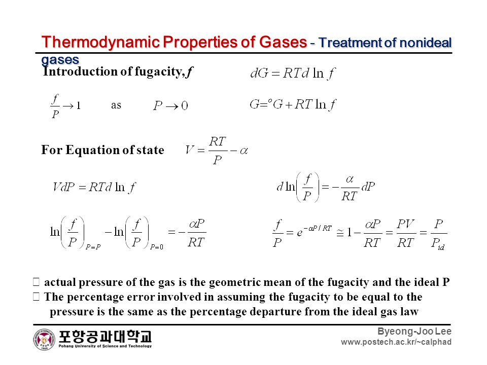 Thermodynamics Basic Review of Byeong-Joo Lee ...