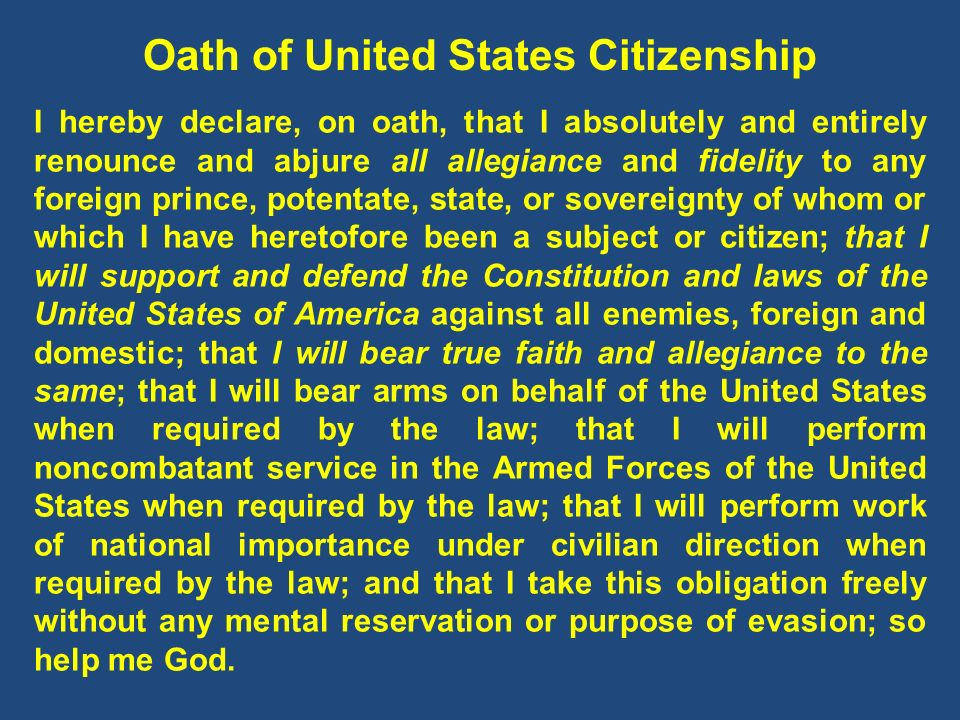 Oath of United States Citizenship