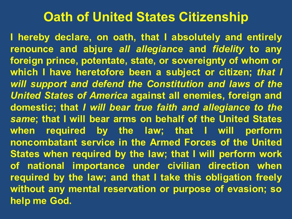 Oath of United States Citizenship