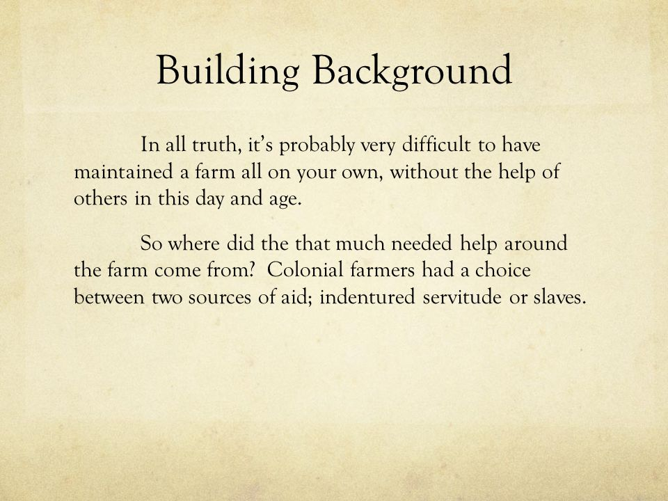 Building Background