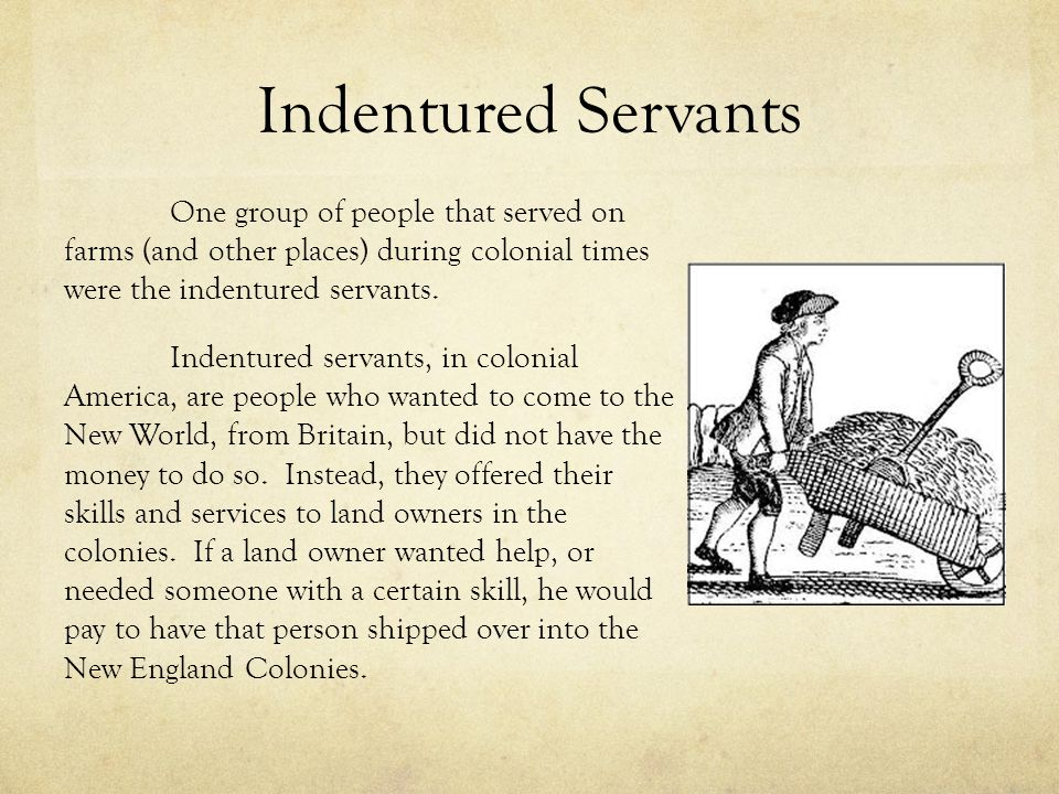 Virtual Jamestown Laws on Indentured Servants August 3 1619 Indentured servants were an important part of the labor force in seventeenthcentury Virginia