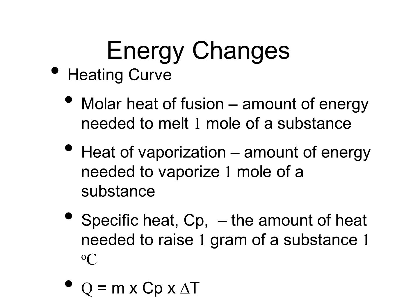 worksheet Heat Of Fusion And Vaporization Worksheet unit 8 liquids and solutions ppt video online download energy changes heating curve molar heat of fusion