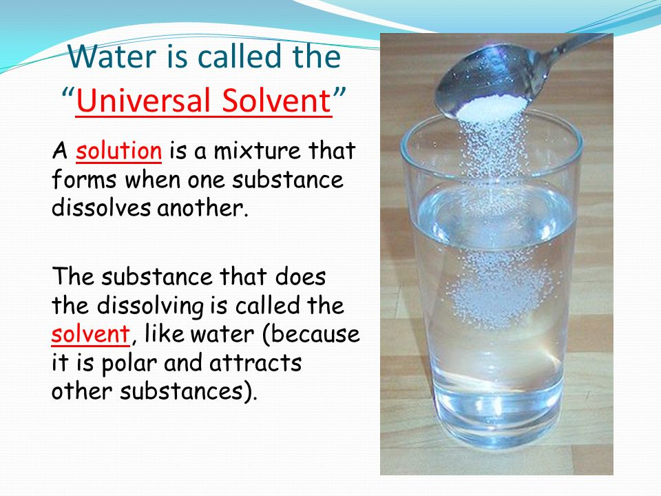 Why Is Water Often Called The Universal Solvent Water