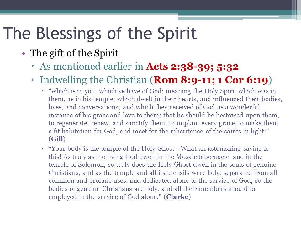 The Blessings of the Spirit
