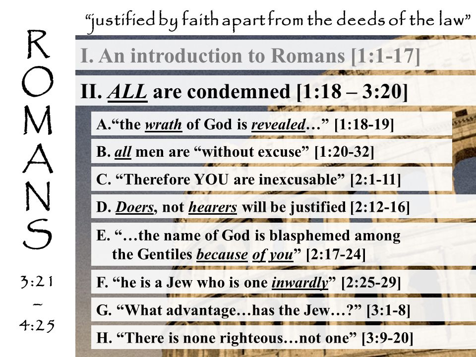 justified by faith apart from the deeds of the law