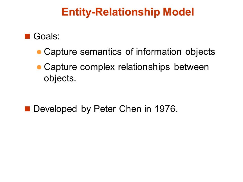 entity relationship model vs semantic object model The extended entity-relationship (eer) model is a conceptual (or semantic)  data model, capable of describing the data requirements for a  conceptual  modeling csc2507 entity vs attribute worksin does not allow an employee to  work.