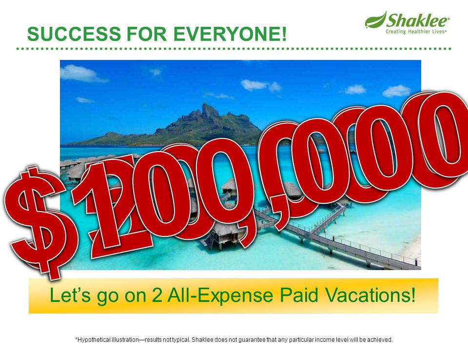 Let's go on 2 All-Expense Paid Vacations!