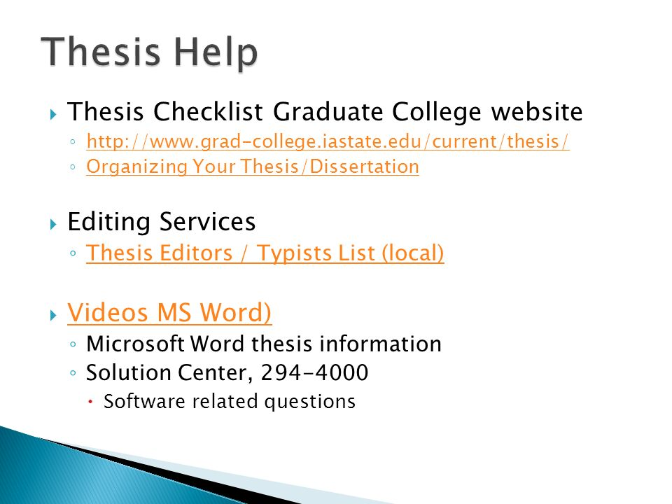 Thesis editing services oxford university