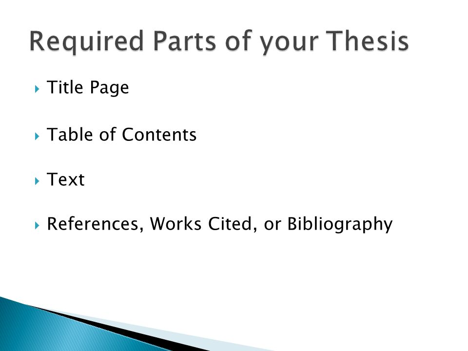 u of a thesis requirements