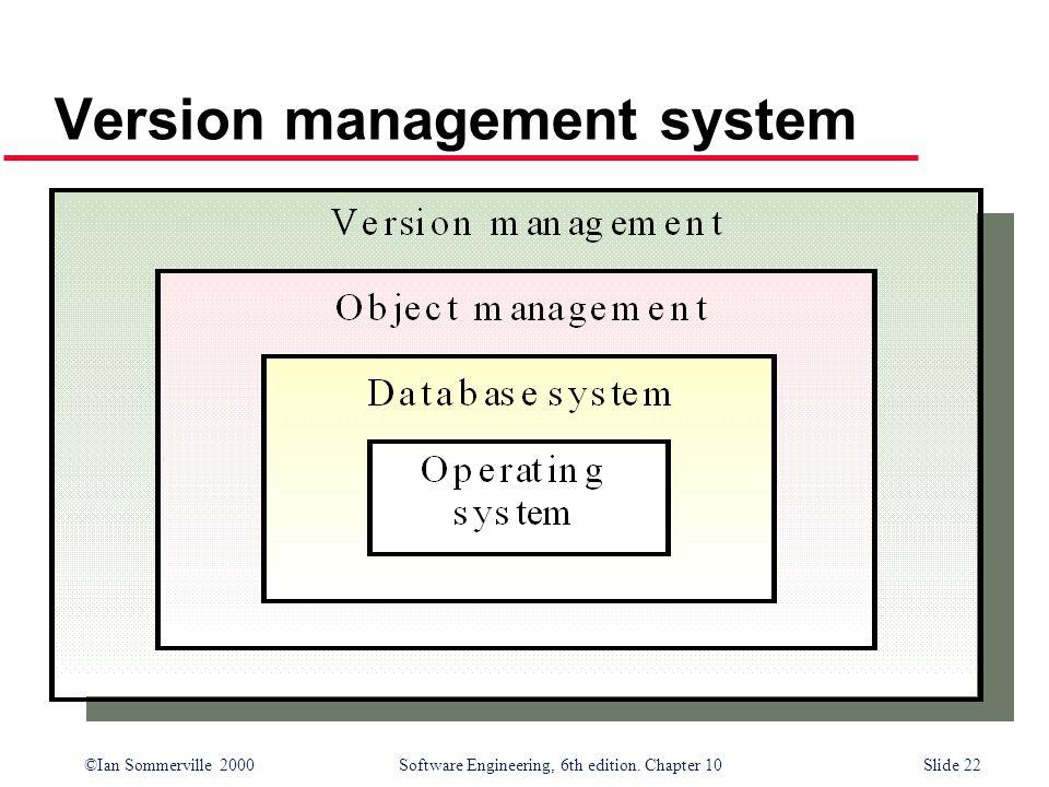 Version management system
