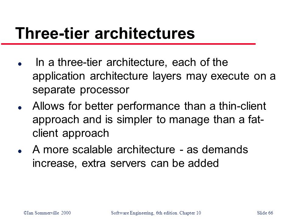 Three-tier architectures