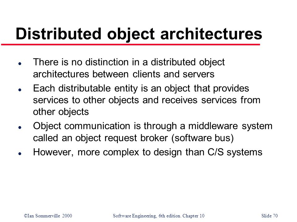 Distributed object architectures