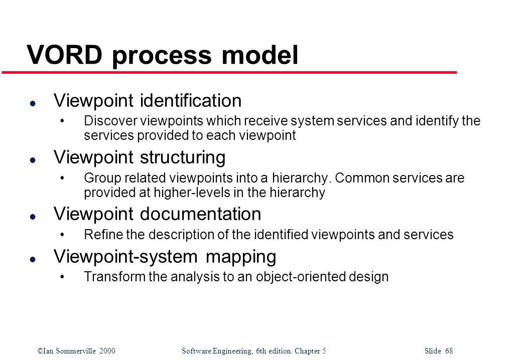 VORD process model Viewpoint identification Viewpoint structuring