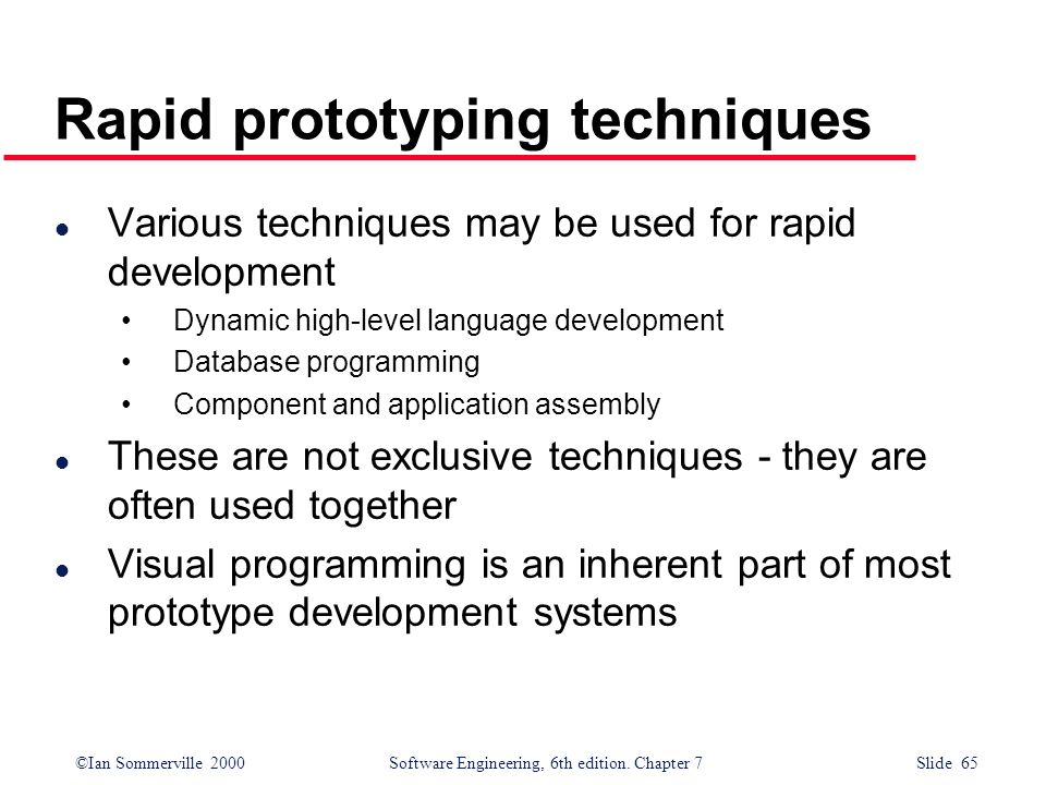 Rapid prototyping techniques