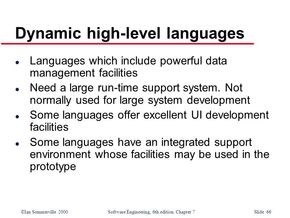 Dynamic high-level languages