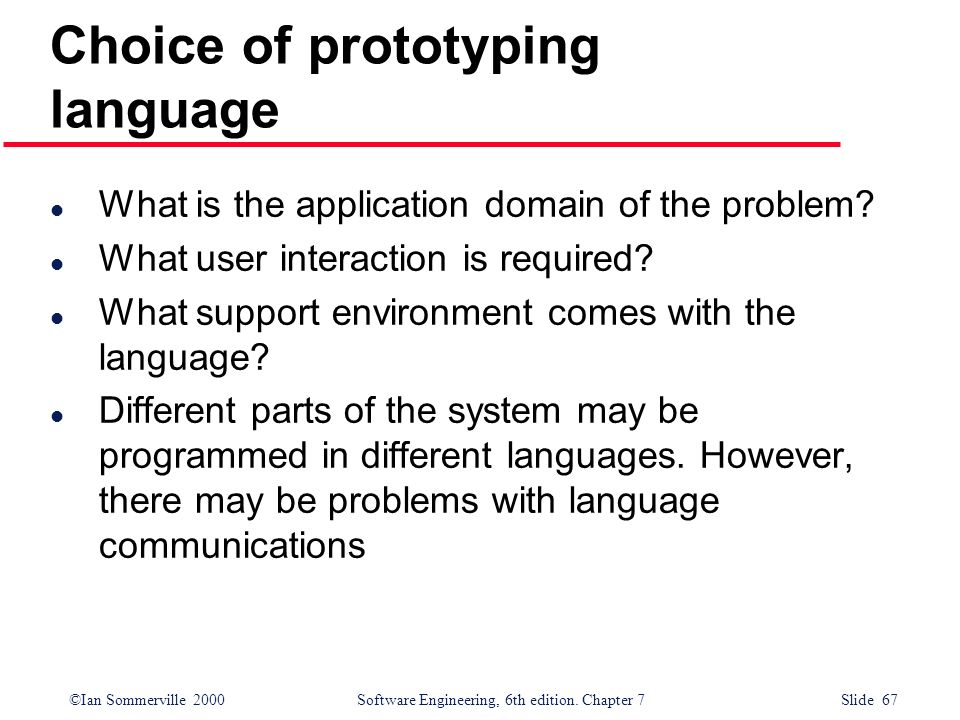 Choice of prototyping language