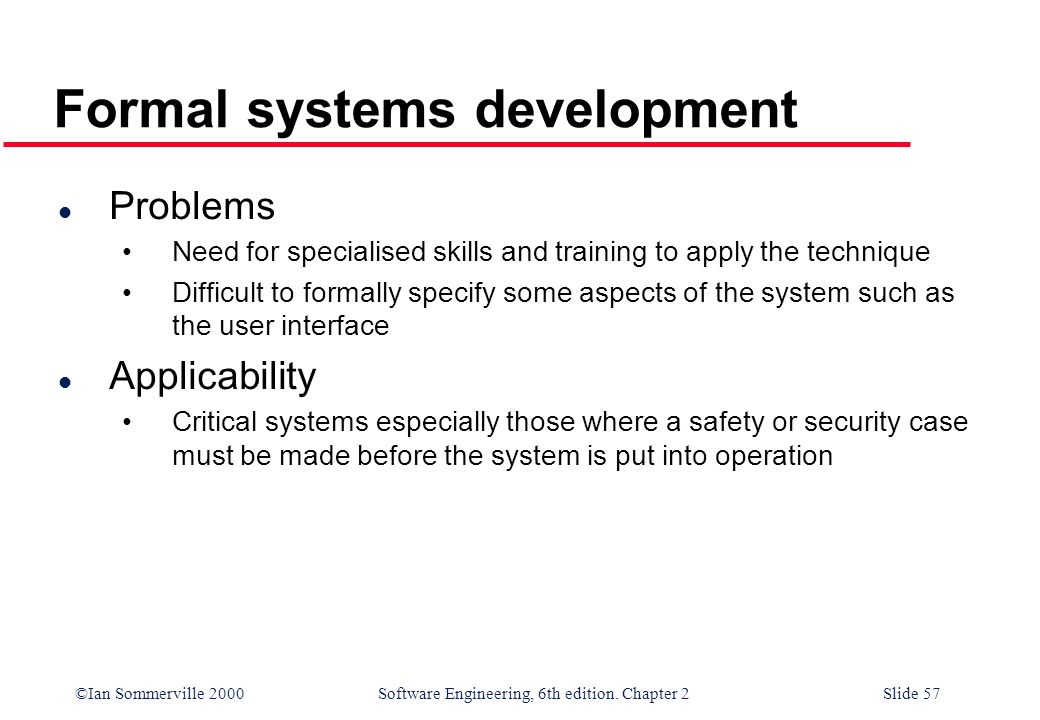 Formal systems development