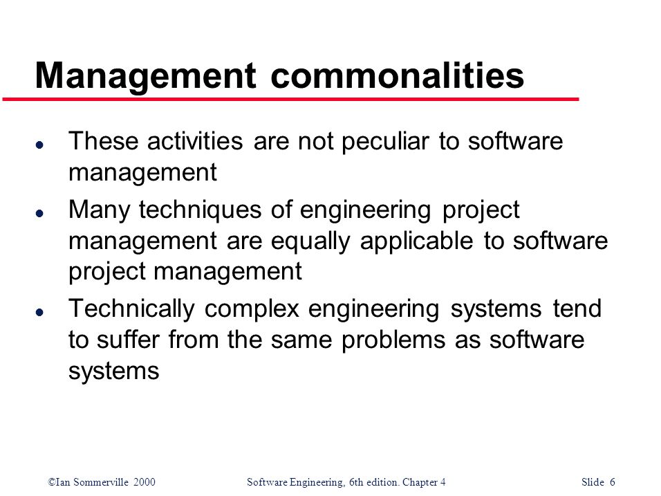 Management commonalities